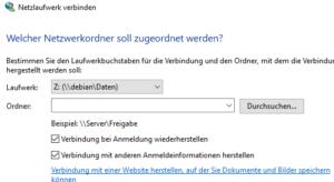 Netzlaufwerk unter Windows 10 verbinden.
