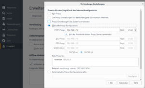 Proxy im Firefox hinterlegen