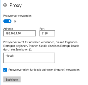 Proxy Windows 10